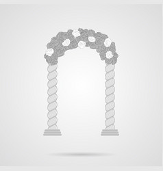 gray wedding romantic arc flat icon vector image