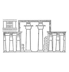 Hall of columns karnak clerestory window vintage vector