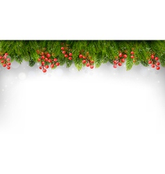 Holiday background with christmas tree branches vector