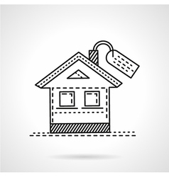 Housing abstract line icon vector image