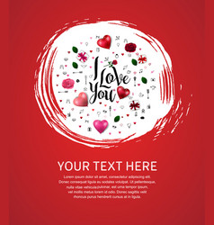I love you concept with love element and round vector