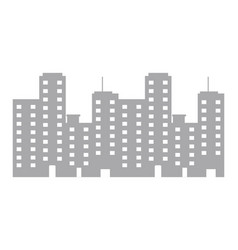 isolated city design vector image