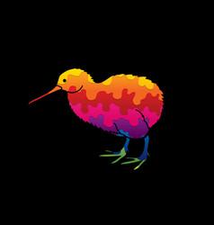 Kiwi bird cartoon graphic vector