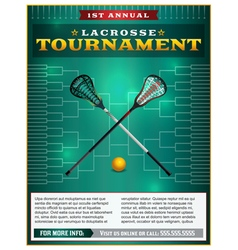 Lacrosse Tourney Bracket Flyer vector image
