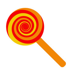 lollipop candy on a stick sucking candy vector image