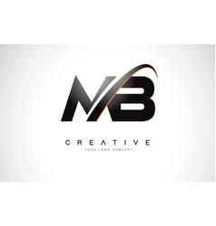 Mb m b swoosh letter logo design with modern vector