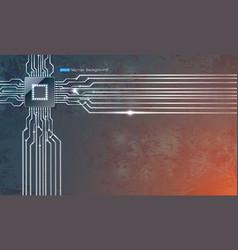 Microscheme chip on grunge background vector
