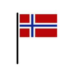 norway flag vector image