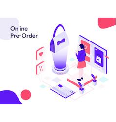 online pre order isometric modern flat design vector image