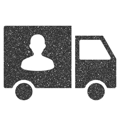 Passenger Transport Van Icon Rubber Stamp vector image