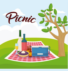 Picnic food design vector