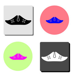 pirate hat flat icon vector image