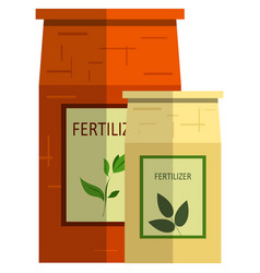 Plant fertilizer icon flat isolated vector