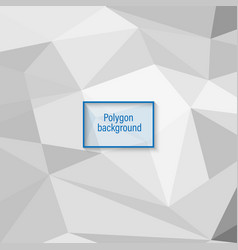 polygon background geometric abstract shape white vector image