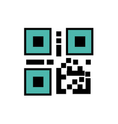 qr code bar code icon vector image