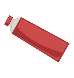 Red tube with cap vector