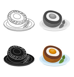 Scotch eggs icon in cartoon style isolated on vector