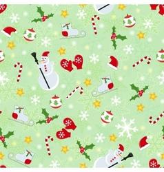 Seamless cute christmas pattern vector