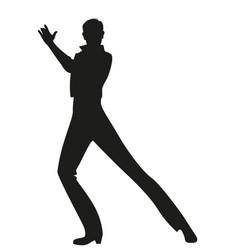 Silhouette spanish flamenco dancer man dancing vector