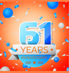 Sixty one years anniversary celebration vector