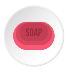 Soap icon circle vector