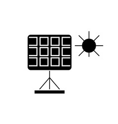 solar panel black concept icon solar panel vector image
