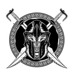 Sparta sword wolf 0001 vector