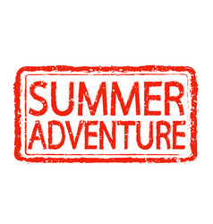 summer adventure stamp text design vector image