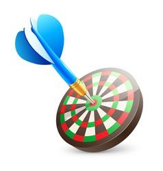 Target dartboard vector