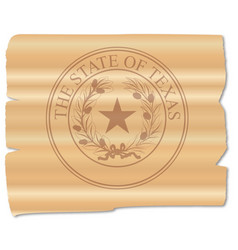 texan state seal brand vector image