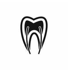 Tooth cross section icon simple style vector
