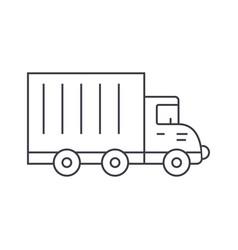 Truck car thin line icon concept truck car linear vector