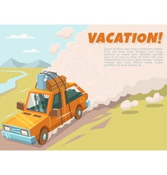 Vacation background with space for text vector image