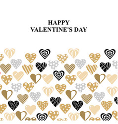 valentines day card with decorative hearts vector image