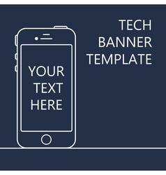 Web Banner with Phone vector image