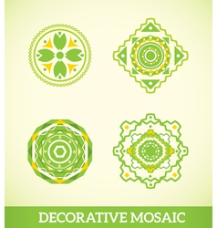 Decorative mosaic vector image vector image