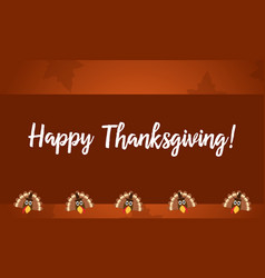 Happy thanksgiving turkey style collection vector