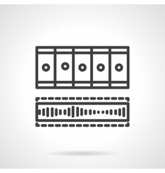 Processing video black line icon vector image vector image
