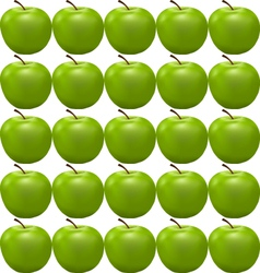 seamless pattern with green apple vector image vector image