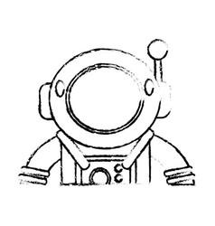 suit space astronaut sketch vector image