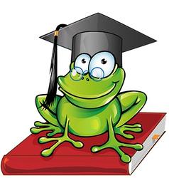 Wise frog cartoon vector image vector image