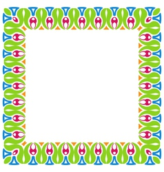 Abstract Colorful Ornamental Border Isolated on vector image