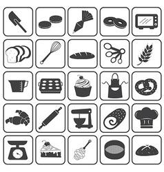 Basic Bakery Icons Set vector image vector image