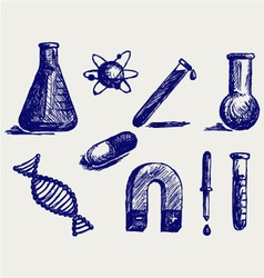 Biology chemistry and physics vector image vector image