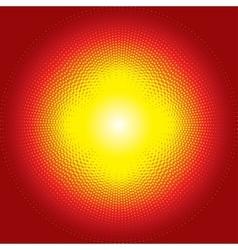 Red shiny starburst halftone background vector image
