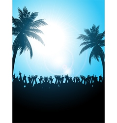 Summer festival with palm trees vector image vector image