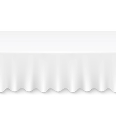 tablecloth table vector image