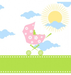 carriage for children vector image vector image