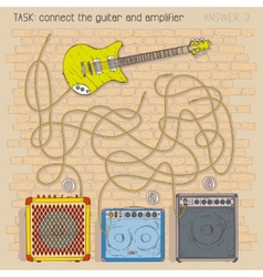 Electric guitar and amplifiers vector image