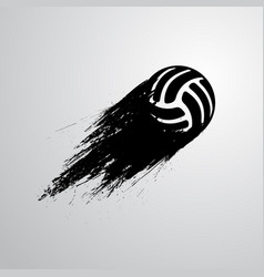 ink blots volleyball ball vector image